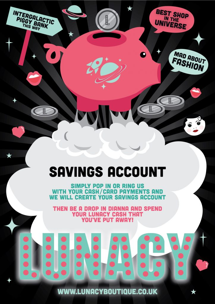 savings accounts - Lunacy Boutique Mad About Fashion