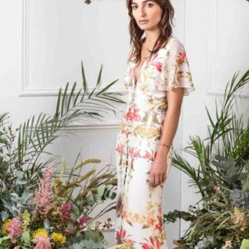 Cream Floral Button Down Dress - Lunacy Boutique Mad About Fashion
