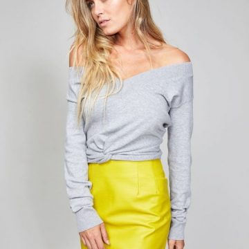 Acid Yellow Pleather Mini Skirt - Lunacy Boutique Mad About Fashion