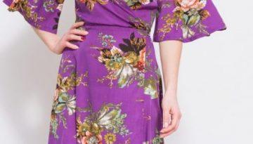 Purple Floral Wrap Maxi Dress - Lunacy Boutique Mad about Fashion
