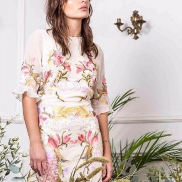 Cream Multi Coloured Embroidered Dress - Lunacy Boutique Mad About Fashion