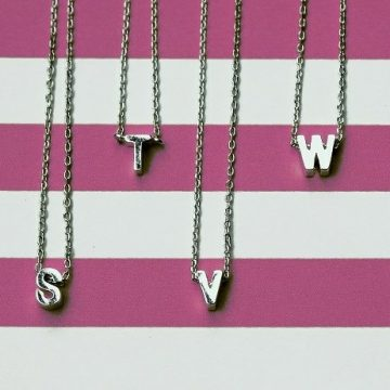 Initial Alphabet Necklace - Lunacy Boutique Mad About Fashion