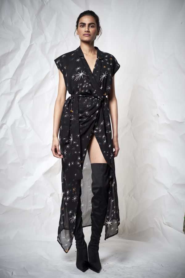 Galaxy Star Maxi Long Wrap Dress - Lunacy Boutique Mad About Fashion