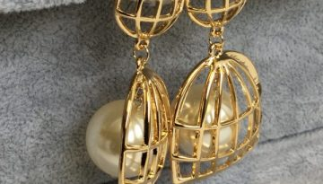 Pearl Bird Cage Earrings - Lunacy Boutique Mad About Fashion