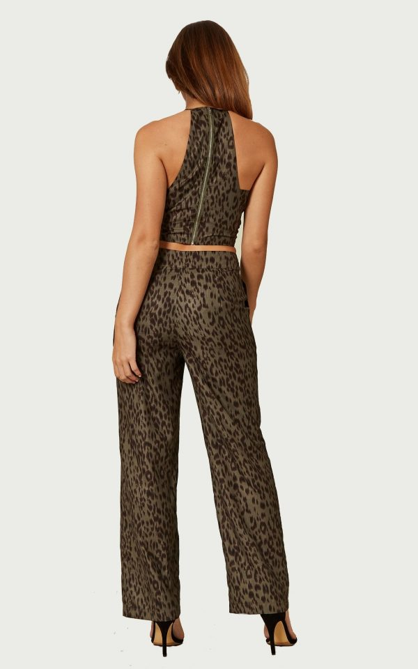 Khaki Leopard Jumpsuit - Lunacy Boutique Mad about Fashion