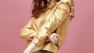 Gold Lame Shirt - Lunacy Boutique Mad About Fashion