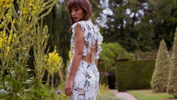 Lattice Open Back Floral Pencil Slinky Dress - Lunacy Boutique Mad About Fashion