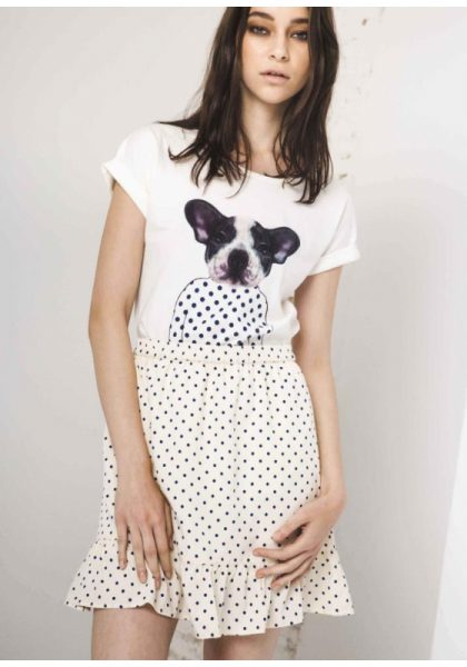 Blue Polka Dot Frill Skirt - Lunacy Boutique Mad About Fashion