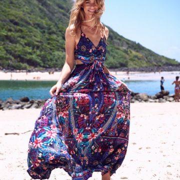 743e9853de6 Purple Print Cutaway Backless Maxi Dress - Lunacy Boutique Mad About Fashion